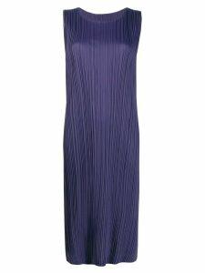 Pleats Please Issey Miyake pleated midi dress - Purple