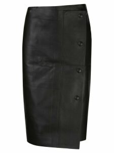 The Row wrap style skirt - Black