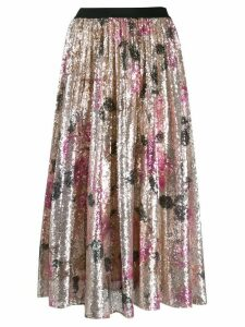 Pinko sequinned floral midi skirt - Neutrals