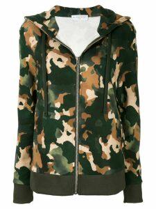Ih Nom Uh Nit camouflage print hoodie - Green