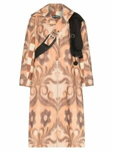 Chopova Lowena mixed print coat - Brown
