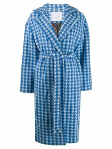 Giada Benincasa houndstooth oversized coat - Blue