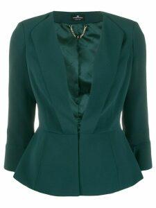 Elisabetta Franchi cinched waist peplum blazer - Green