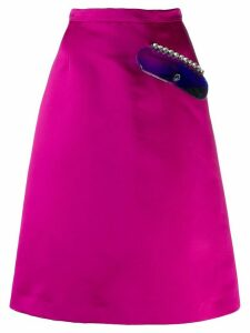 Christopher Kane crystal gel skirt - PINK