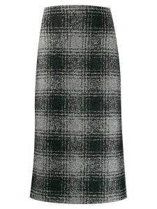 Antonelli check print pencil skirt - Grey