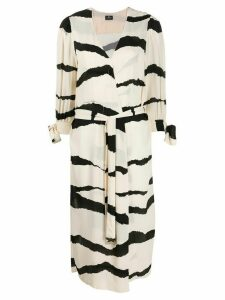 Elisabetta Franchi wrap dress - NEUTRALS