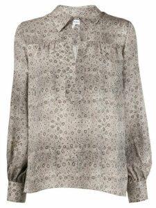 FRAME snake-print silk peasant blouse - Neutrals