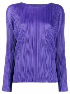 Pleats Please Issey Miyake pleated top - Purple