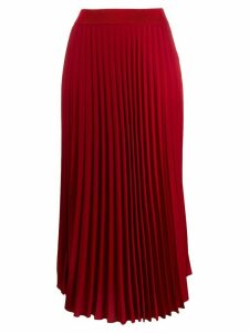 Moncler pleated midi skirt - Red