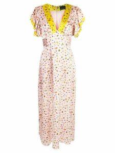 Cynthia Rowley Pamela flutter sleeve maxi dress - Pink