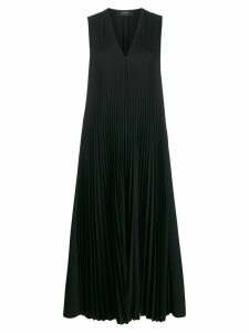 Joseph V-neck pleated dress - Black