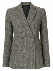 Helmut Lang Prince of Wales check blazer - Grey