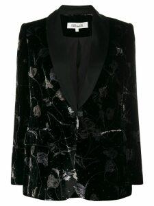 Diane von Furstenberg floral velvet blazer - Black