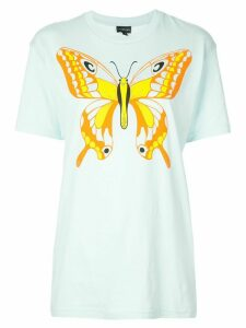 Callipygian Butterly oversized T-shirt - Blue
