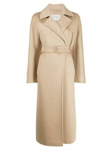 Max Mara double buttoned trench coat - NEUTRALS