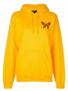 Callipygian Floral Face relaxed hoodie - Yellow
