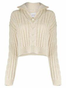 Nanushka half zip knitted jumper - Neutrals