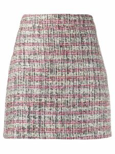 Andamane tweed effect skirt - White