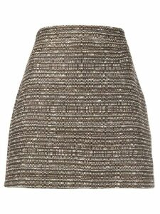 Andamane tweed effect skirt - Brown