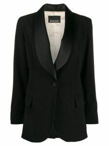 Ermanno Scervino satin lapels tuxedo blazer - Black
