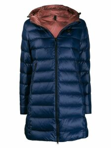 Blauer George long padded coat - Blue