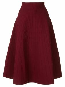 Casasola high waisted ribbed skirt - Red