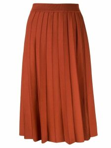 Casasola high waisted pleated skirt - Red