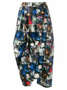 Barbara Bologna colour-block midi skirt - Black