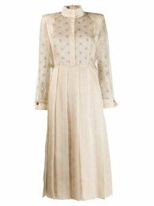 Fendi high collar dress - NEUTRALS