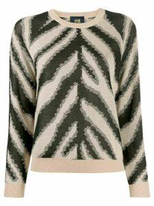 Cavalli Class zebra print jumper - Brown