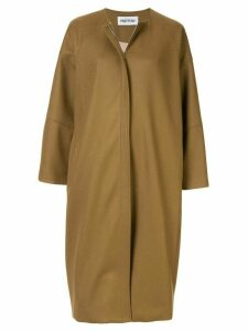 Partow collarless midi coat - Yellow