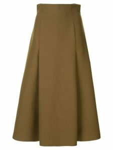 Partow high waisted A-line skirt - Green