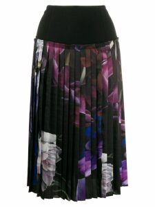 Roberto Cavalli floral print pleated skirt - Black