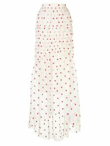 Brock Collection heart-print skirt - White