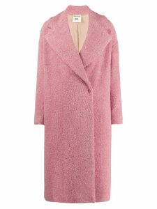 Semicouture oversized double breasted coat - Pink