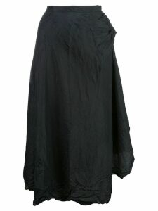 Marc Le Bihan asymmetric hem silk skirt - Black