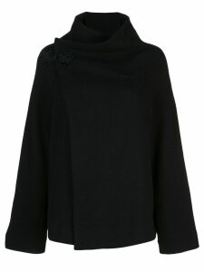 Y's wrapped cardi-coat - Black