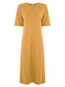 Osklen Rustic Fit ribbed dress - Yellow