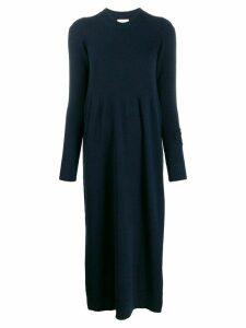 Barrie sleeve logo detail dress - Blue