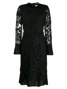 Tory Burch lace-pattern fitted dress - Black