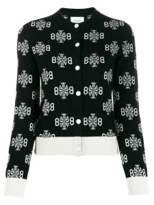 Barrie Thistle logo pattern cardigan - Black