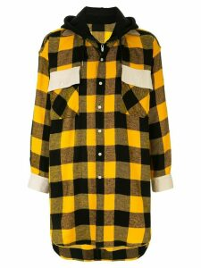 Maison Mihara Yasuhiro oversized checked shirt - Yellow