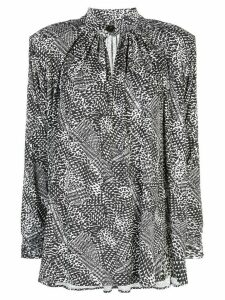 Proenza Schouler long-sleeved printed jersey top - White