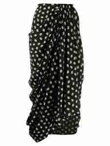 Isabel Marant floral print midi skirt - Black