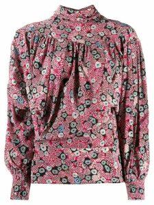 Isabel Marant graphic print draped blouse - Pink