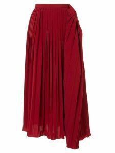 Maison Mihara Yasuhiro pleated skirt - Red