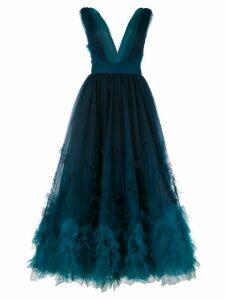 Marchesa ombré textured dress - Blue