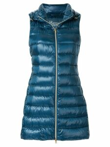 Herno padded hooded vest - Blue