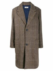 Zadig & Voltaire Macy check coat - Brown