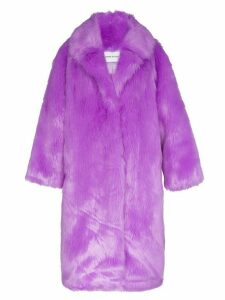STAND STUDIO oversized Clara faux fur coat - PURPLE
